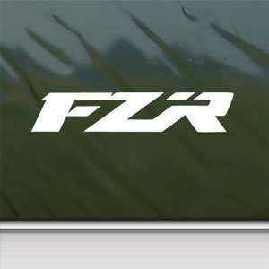 Yamaha White Sticker 2010 FZR Car Laptop Vinyl Window