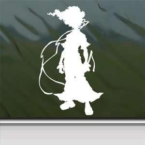 Afro Samurai White Sticker Car Laptop Vinyl Window White Decal