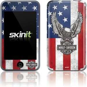 Skinit Harley Davidson Eagle Logo on American Flag Vinyl Skin for iPod