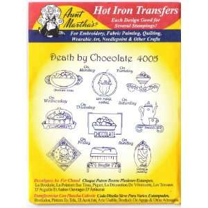 Aunt Marthas Hot Iron Transfers #4005 Death by Chocolate