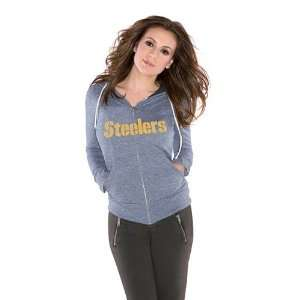 Pittsburgh Steelers Ladies Tried and True Tri Blend Hooded