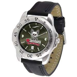 South Dakota Coyotes Mens Game Day Sport Leather AnoChrome Watch