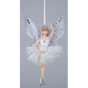 Ice Palace Crystal Ball Ballerina Snow Fairy En Pointe Christmas