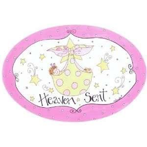 The Kids Room Heaven Sent with Baby Girl in Blanket Oval