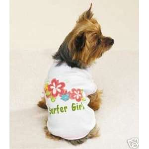 Surfer Girl Pet Dog Tee Shirt EXTRA SMALL Kitchen