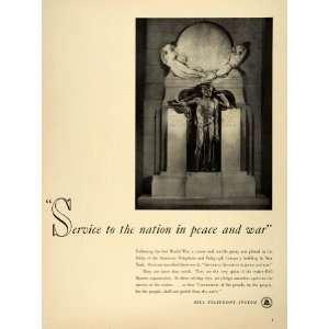 1942 Ad American Bell Telephone Telegraph World War II