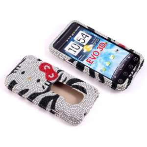 Smile Case Hello Kitty Zebra Bling Rhinestone Crystal
