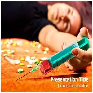 Drug Abuse Powerpoint Templates   Drug Abuse Background