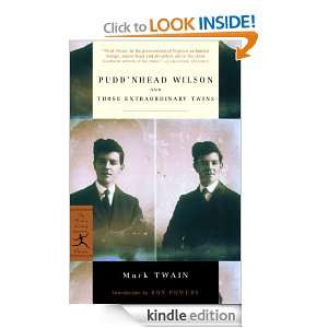 Puddnhead Wilson and Those Extraordinary Twins (Modern Library