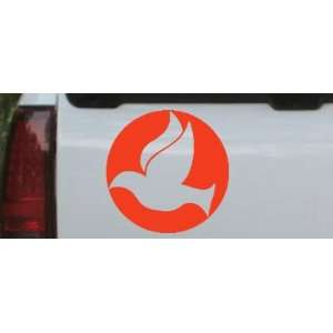 Red 14in X 14.0in    Dove In Circle Christian Car Window Wall Laptop
