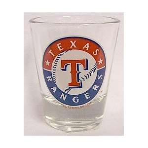 Texas Rangers Logo Standard Shot Glass  Kitchen & Dining