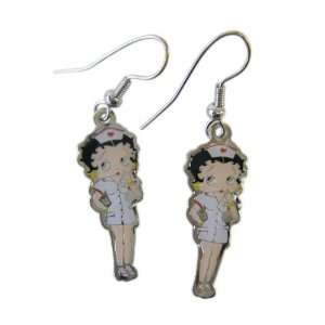 Betty Boop Dangle Earrings   Betty Boop Nurse Dangle