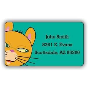 Cat Return Address Label Office Products