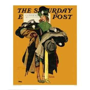 Hat Check Girl By Norman Rockwell Highest Quality Art