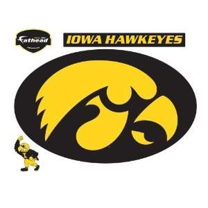 Fathead Iowa Hawkeyes Logo Wall Decal:  Sports & Outdoors