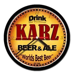 KARZ beer and ale cerveza wall clock: Everything Else