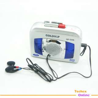 PORTABLE CASSETTE TAPE PLAYER VOICE SOUND RECORDER