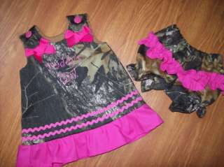 Custom BOUTIQUE Daddys Girl Camo camouflage Dress blmr