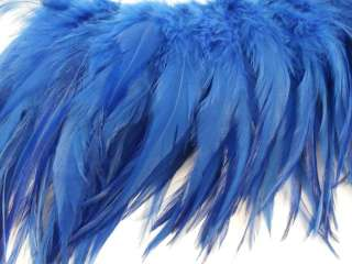 50+ ROYAL BLUE ROOSTER SADDLE HAIR CRAFT FEATHER 6 7L