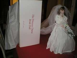 Princess Diana Porcelain Bride Doll Danbury Mint MIB!!!