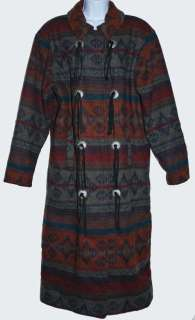 WOOLRICH NAVAJO INDIAN BLANKET Womans Size Medium DUSTER COAT