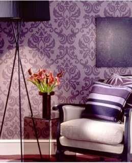 14706 Designer Damask Purple Damask Wallpaper