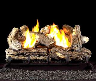 Propane LP Gas Fireplace Log Set with Thermostat Control 18 inch