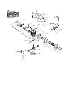 POULAN Chain saw   poulan pro Chassis/bar/handle Parts  Model 260
