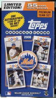 Gary Carter AUTO 2008 Topps LE Team Set New York Mets