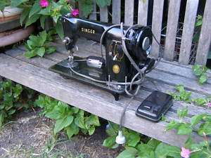 RARE VINTAGE ELECTRIC SINGER SEWING MACHINE MODEL 201K