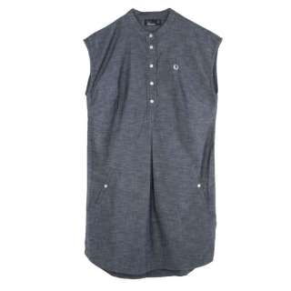 Authentic Womens Blue Chambray Shirt Dress   Dresses from Psyche UK