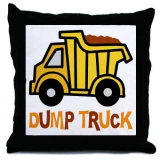 Toy Dump Truck Throw Pillow by nitasnook  334526163