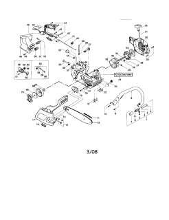 POULAN Chain saw Carburetor   #530069722 w  Parts  Model 2450 TYPE