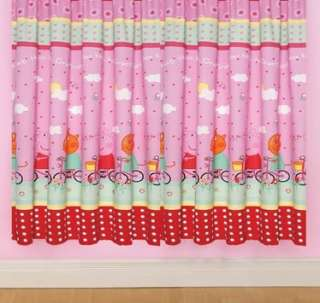 Rooms  Peppa Pig & George  Peppa Pig Curtains   Polka Dot 54s