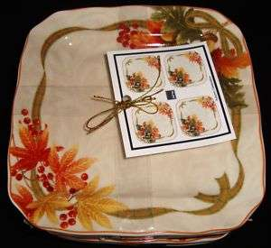 New 222 Fifth Autumn celebration 8 Dessert Plates