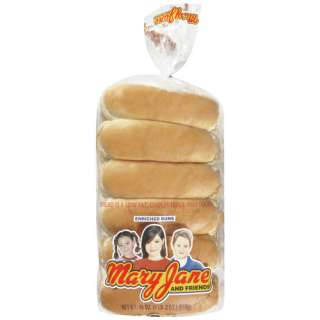 Mary Jane & Friends Hot Dog Buns, 12ct Bakery & Bread