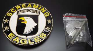 US ARMY AIRBORNE SCREAMING EAGLES GRILL BADGE CAR TRUCK NEW 3 NR