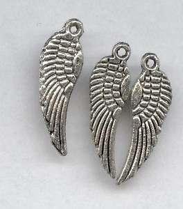 Sm Tibetan Silver Harley / Angel Wing Charm, Pendant