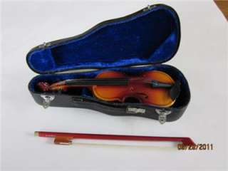 American Girl 18 Doll Violin + Bow + Case + Music Stand EXC