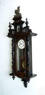 Antique German wall clock at 1900