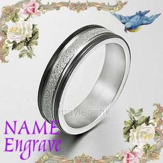 Men Women Black Wedding Bands Engagement Titanium Ring