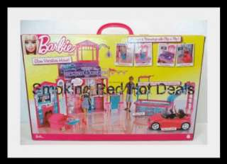 Vacation Doll House Pink Furniture Rare Beach Scene Hot Xmas Toy New