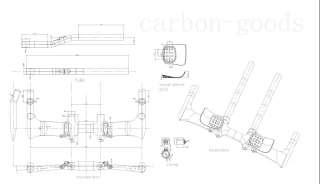 3k Carbon Time Trial /Road Bike Handlebars 31.8*420mm