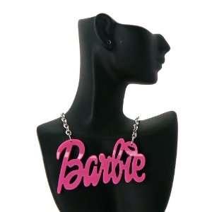 NEW NICKI MINAJ BARBIE Hot Pink Thin Pendant W/Chain Jewelry