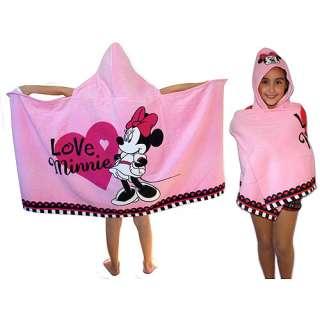 Minnie Mouse Ooh La La Hooded Towel Kids & Teen Rooms