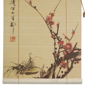Oriental Furniture tt123Sakura Blossom Bamboo Blinds Decor