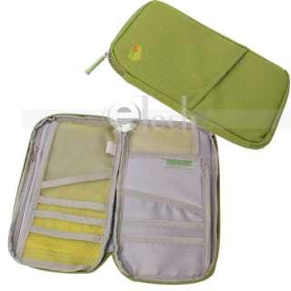 Travel Passport Holder Credit Card Organizer Wallet Bag
