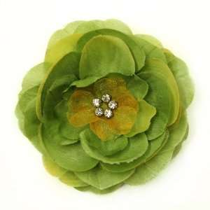 Rhinestone Fabric Flower Hat Hair Clip & Pin Brooch F10979 Beauty