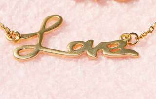 Love Letter Gold Plated Charm Pendant Necklace Christmas Gift