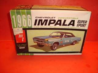 AMT 1966 Chevy Impala Conv. Model Car Parts Kit